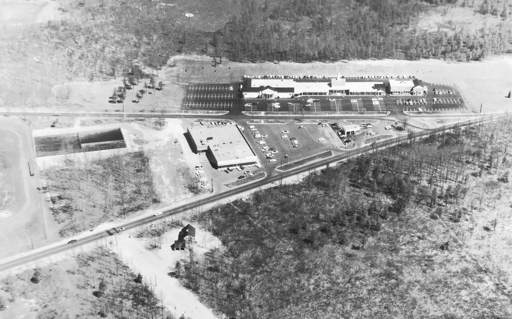Aerial View of The Longmeadow Shops from 1962