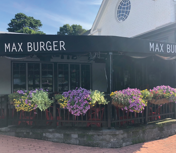 Spring Blooms outside of Max Burger