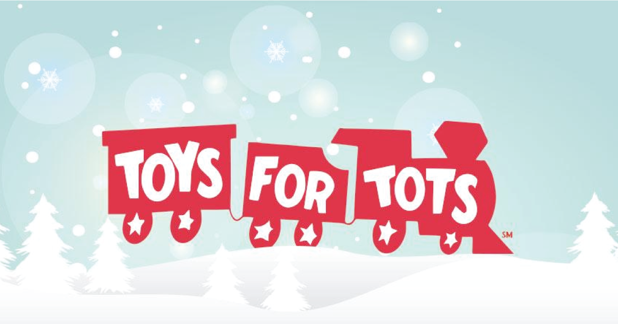Toys for Tots Logo Train