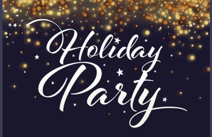 Holiday Party Graphic with Confetti