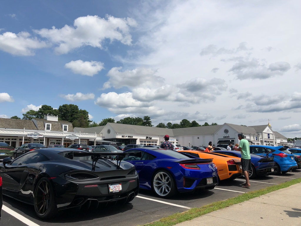 Cars of Longmeadow Cars Show cars at The Longmeadow Shops