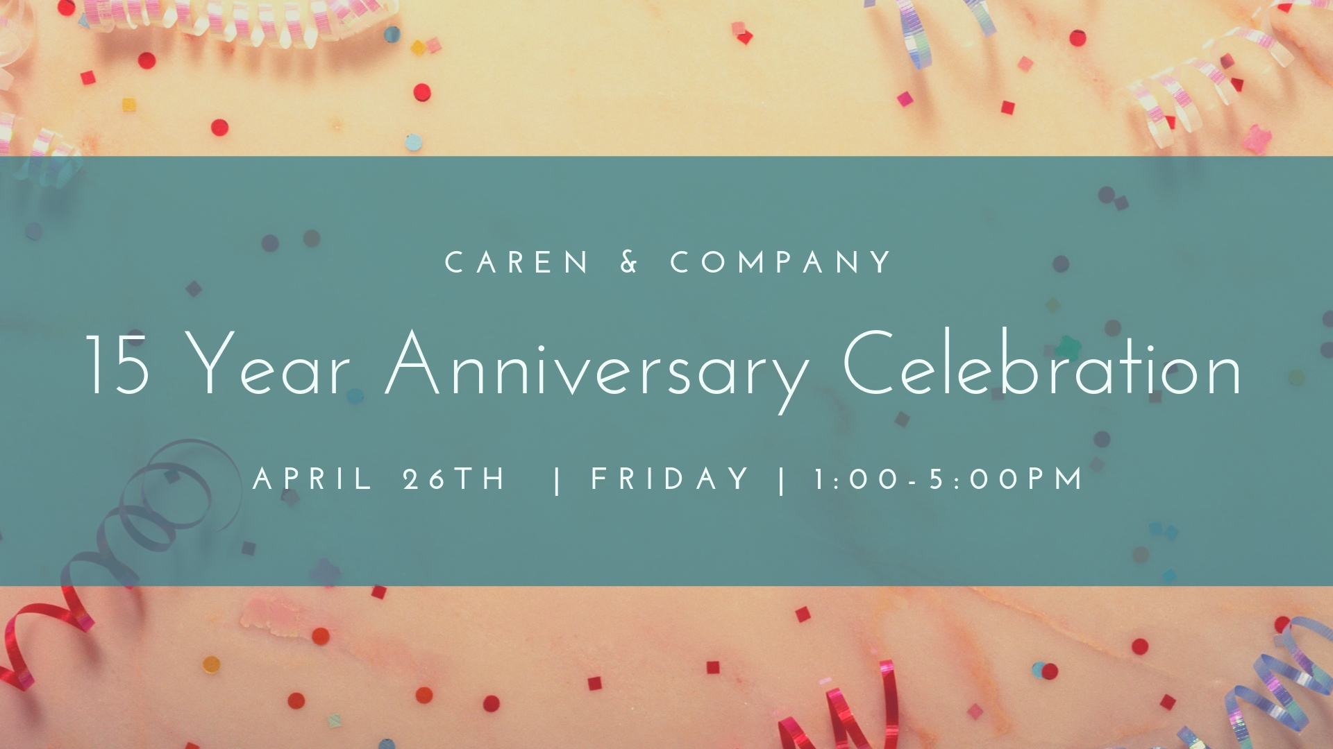 Caren & Co Anniversary Graphic