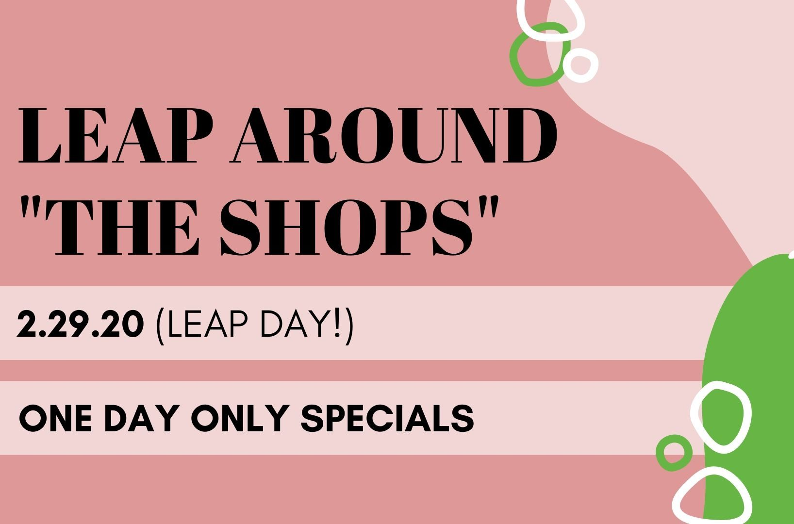 Leap Around The Shops