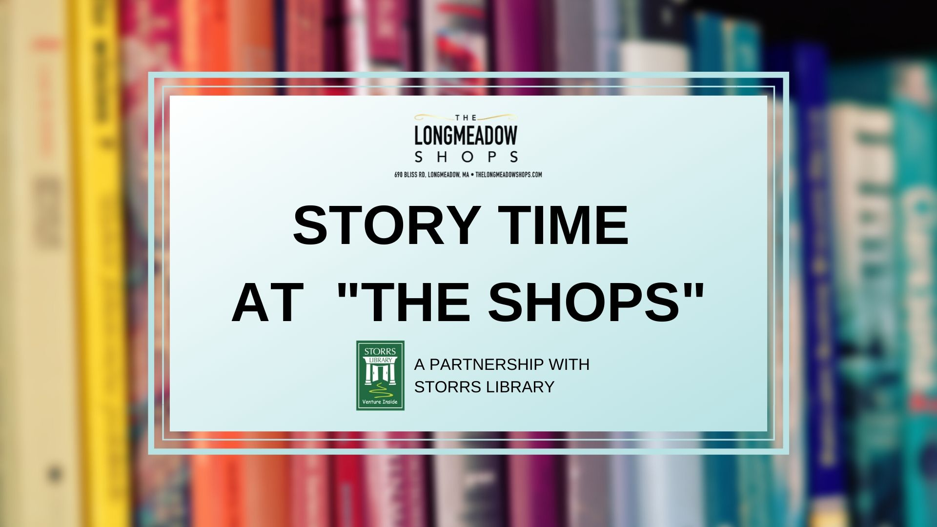 """Story Time at """"The Shops""""!"""