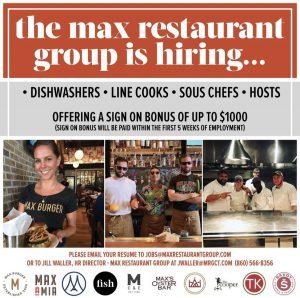 Max Burger Help Wanted