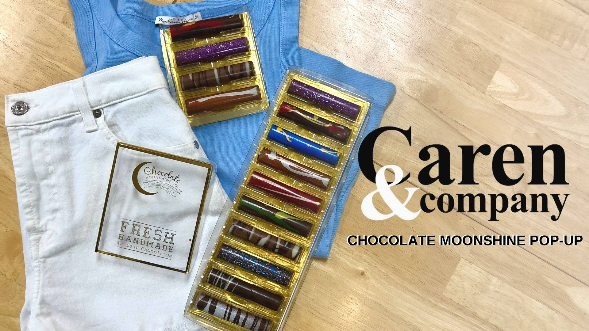 Chocolate Moonshine Pop Up at Caren and Co.